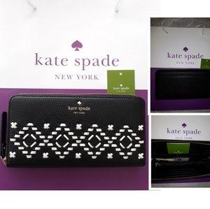 BNWT Kate Spade Wallet Large Zip around Neda Flynn